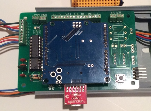 a cpShield board with an attached Arduino Pro